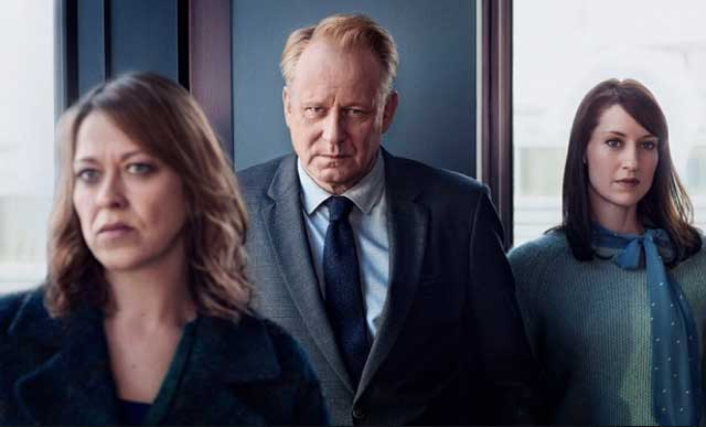 Nicola Walker, Stellan Skarsgård and Georgina Rich in River