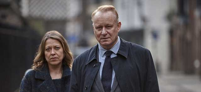 Stellan Skarsgård and Nicola Walker in River