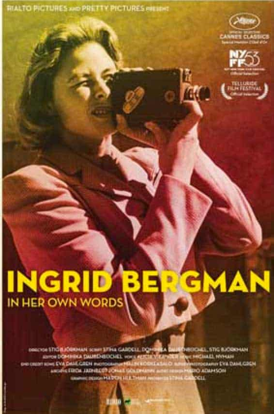 Poster for Ingrid Bergman in her Own Words