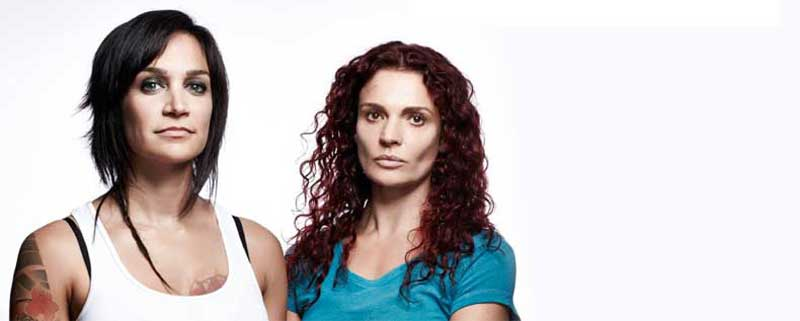 Nicole da Silva and Danielle Cormack in Wentworth season 3
