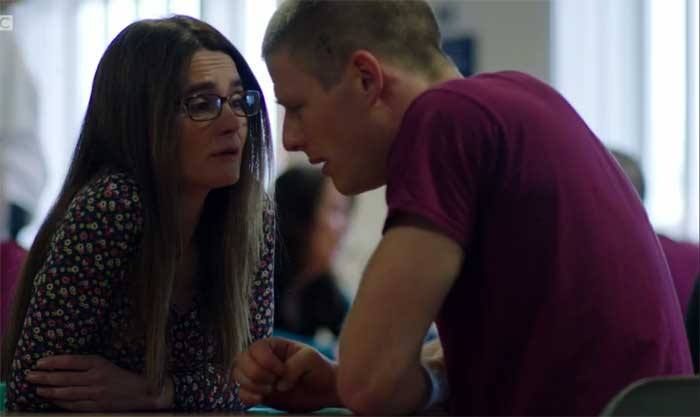 Shirley Henderson and James Norton in Happy Valley