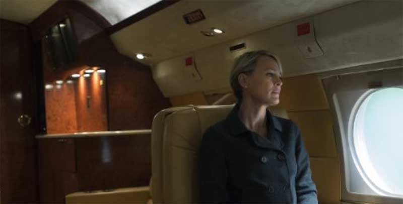 Robin Wright in a scene from House of Cards season 4