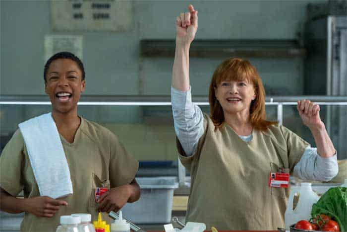 Samira Wiley and Blair Brown in Orange is the New Black