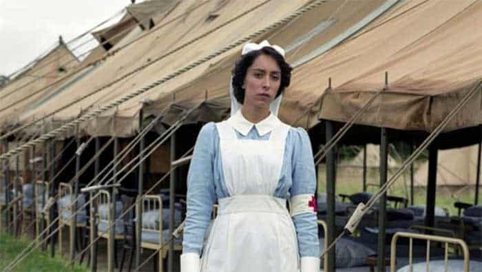 Oona Chaplin as Kitty in The Crimson Field