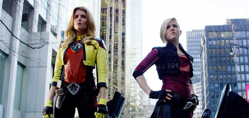 Grace Hilbig and Hannah Hart in Electra Woman and Dyna Girl