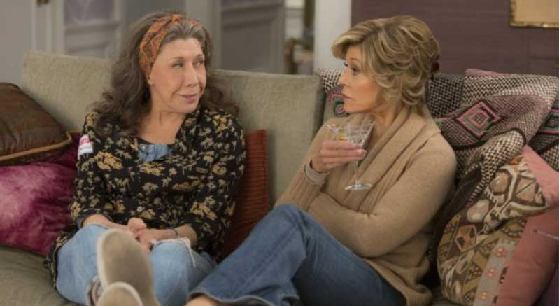 Lily Tomlin and Jane Fonda in season 2 of Grace and Frankie