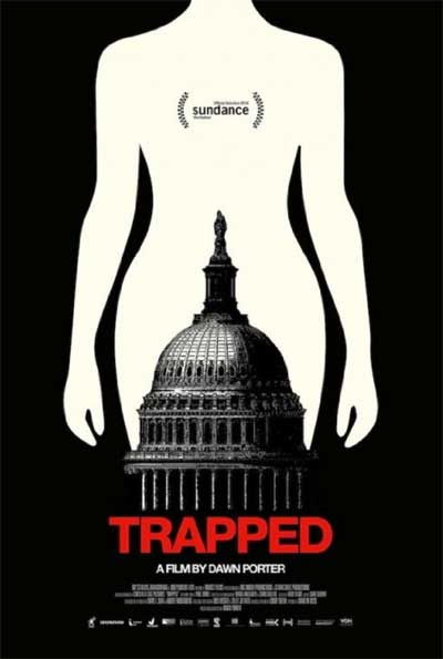 The Trapped poster with the capitol building in a woman's vagina