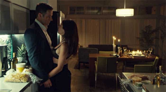 Dylan Bruce and Tatiana Maslany in Orphan Black