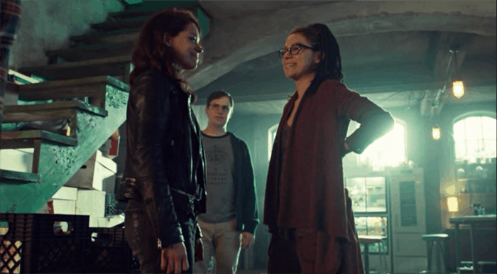 Tatiana Maslany as Sarah and Cosima in Orphan Black