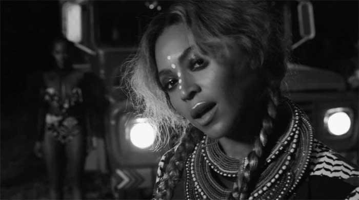 "Beyoncé in her visual album ""Lemonade"""