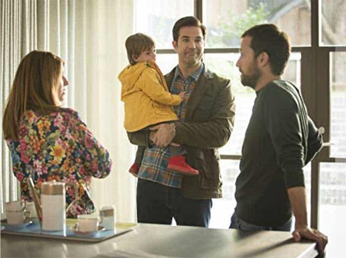 Sharon Horgan, Rob Delaney and Jonathan Forbes in Catastrophe