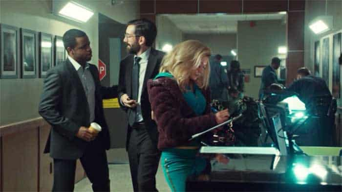 Kevin Hanchard, Gord Rand and Tatiana Maslany in Orphan Black