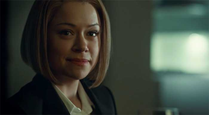 Tatiana Maslany as Rachel in Orphan Black