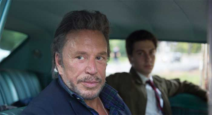 Mickey Rourke and Nat Wolff in Ashby