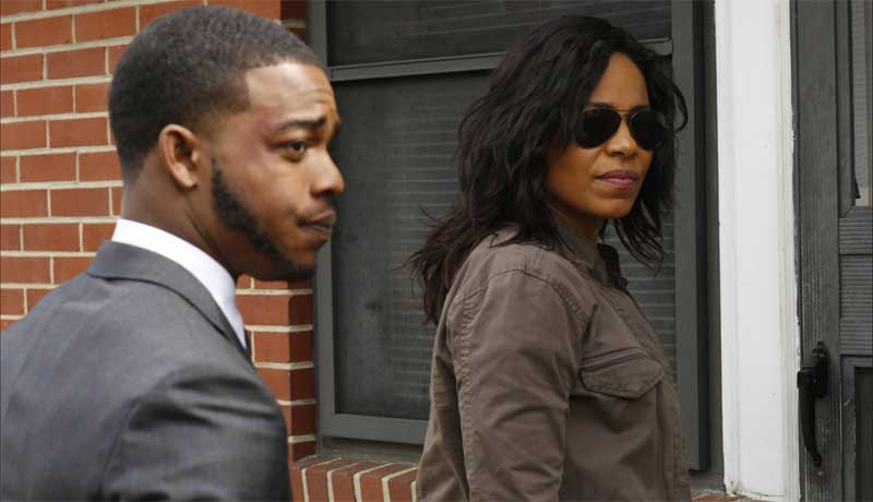 Sanaa Lathan and Stephan James in Shots Fired