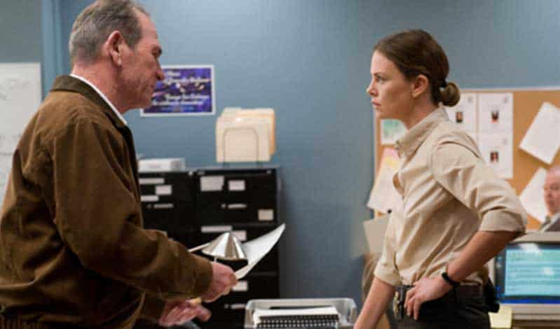 Tommy Lee Jones and Charlize Theron in In the Valley of Elah