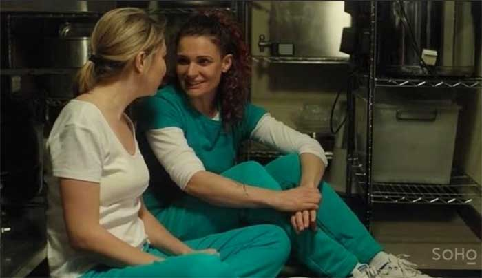Kate Jenkinson and Danielle Cormack in Wentworth