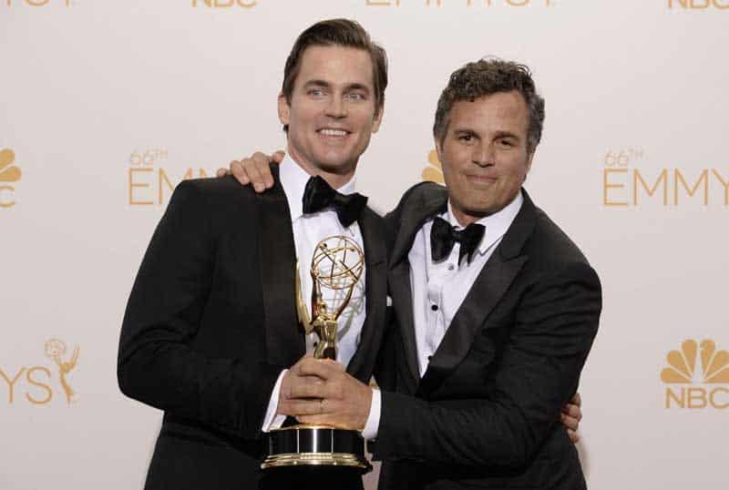 Matt Bomer and Mark Ruffalo at the Emmys