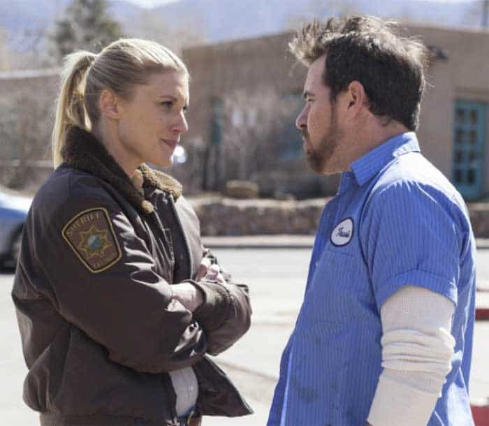 Katee Sackhoff and Derek Phillips in Longmire