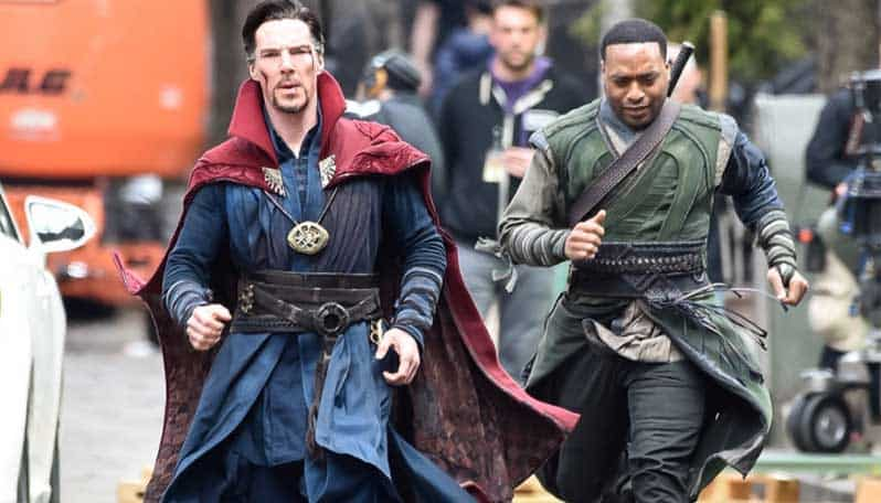 Benedict Cumberbatch and Chiwetel Ejiofor in Doctor Strange