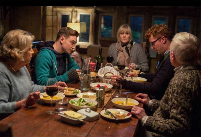Anne Reid, Lawrence Greatorex, Dean Smith, Sarah Lancashire and Derek Jacobi in Last Tango in Halifax