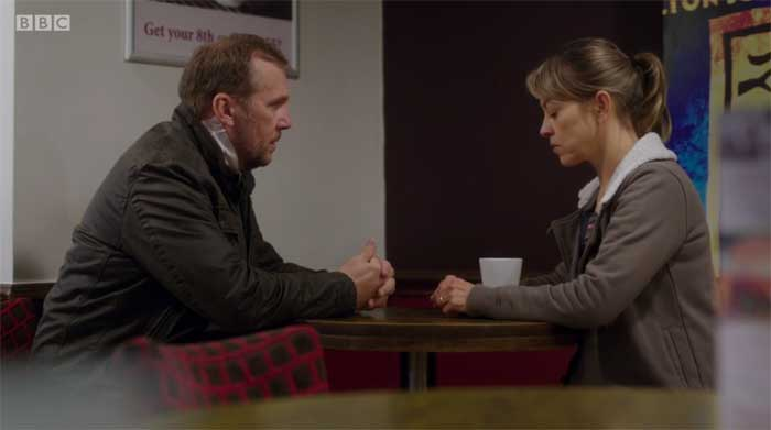 Dean Andrews and Nicola Walker in Last Tango in Halifax