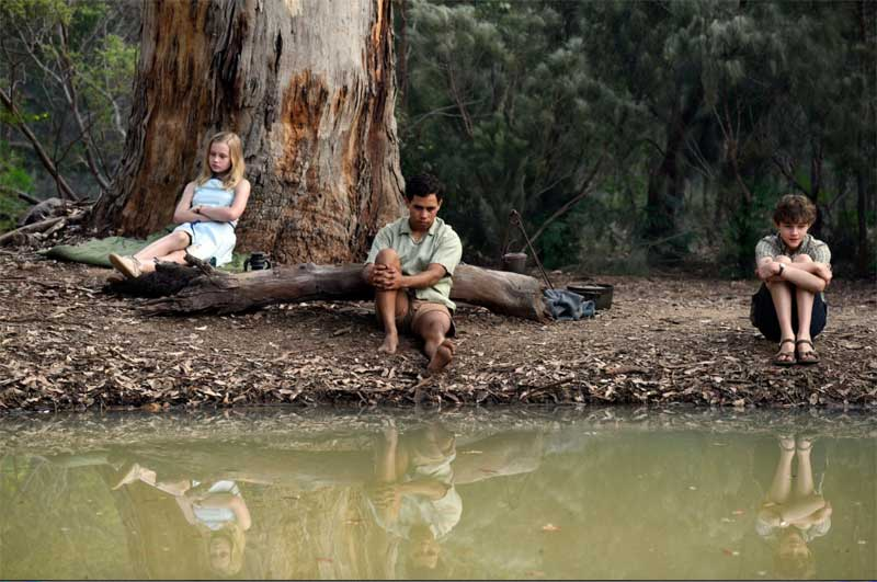 Angourie Rice, Aaron L. McGrath and Levi Miller in Jasper Jones