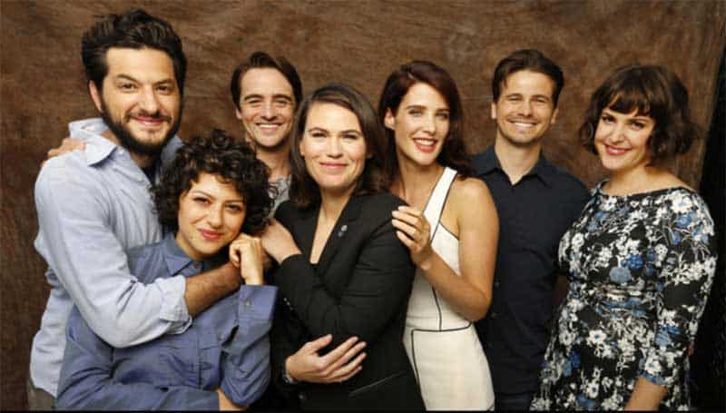 Melanie Lynskey, Clea DuVall, Jason Ritter, Alia Shawkat, Cobie Smulders, Vincent Piazza, and Ben Schwartz at The Intervention