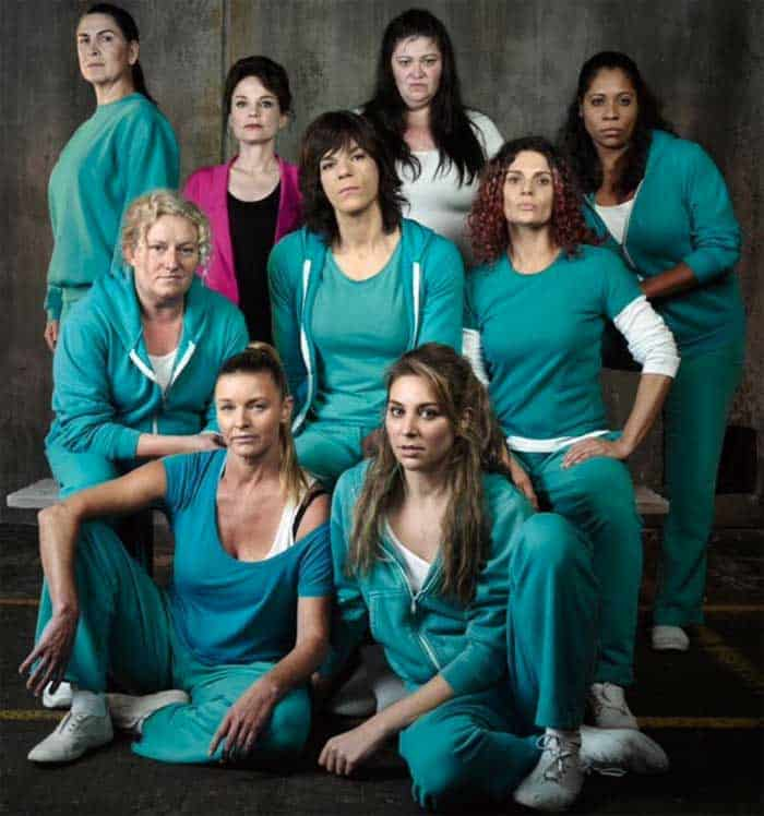 The main prisoner cast during season 4