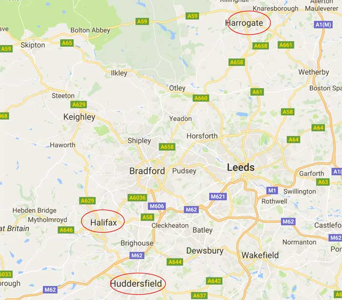 detail map of yorkshire