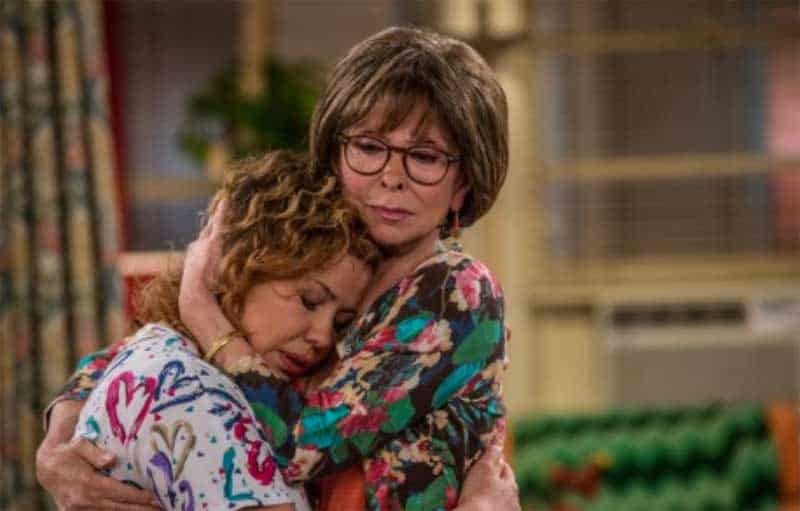 Justina Machado and Rita Moreno hug in One Day at a Time