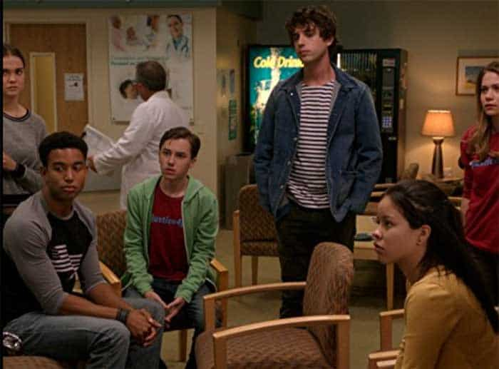 the Adams-Foster kids in a hospital waiting room