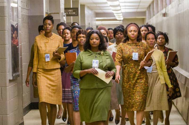 The colored computers of Hidden Figures on the march