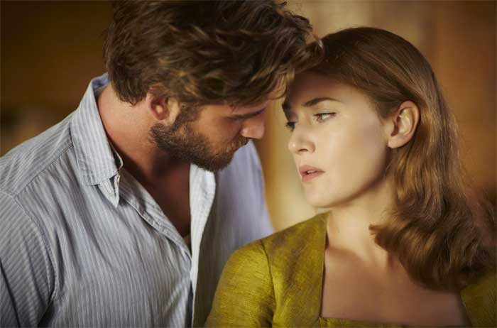Liam Hemsworth and Kate Winslet in The Dressmaker