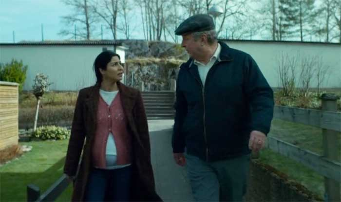 Rolf Lassgård and Bahar Pars in A Man Called Ove