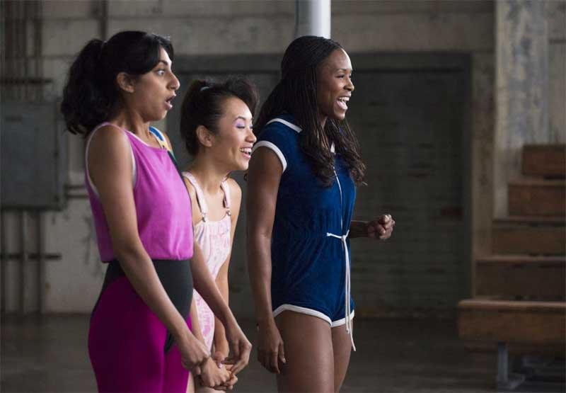 Sydelle Noel, Ellen Wong, and Sunita Mani in GLOW