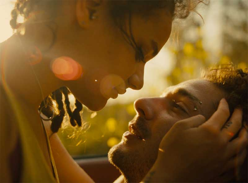 Shia LaBeouf and Sasha Lane in American Honey
