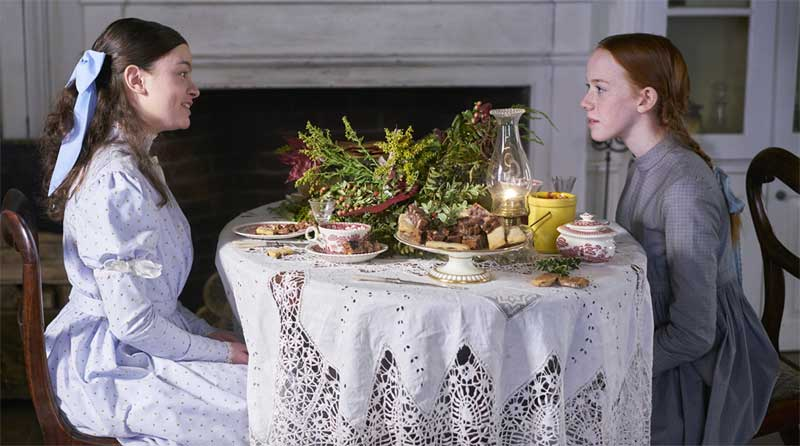 Dalila Bela and Amybeth McNulty in Anne with an E