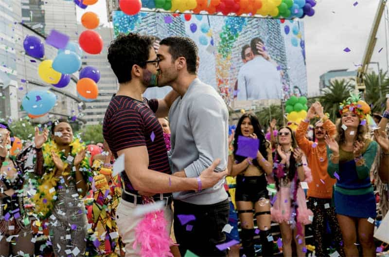 Alfonso Herrera and Miguel Ángel Silvestre in Sense8