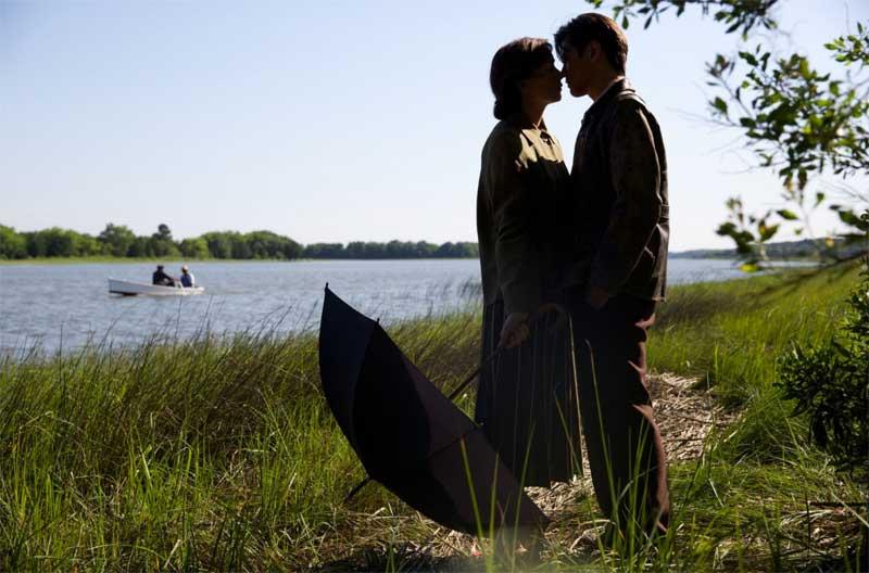 Julianne Nicholson and Takashi Yamaguchi in Sophie and the Rising Sun