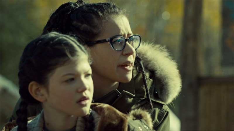 Cynthia Galant and Tatiana Maslany as Cosima in Orphan Black