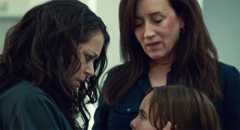 Tatiana Maslany, Skyler Wexler and Maria Doyle Kennedy in Orphan Black