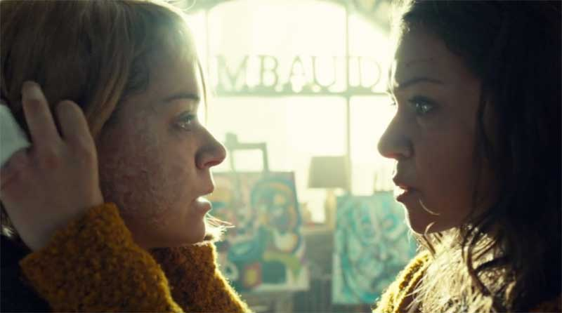Tatiana Maslany as MK and as Sarah in Orphan Black