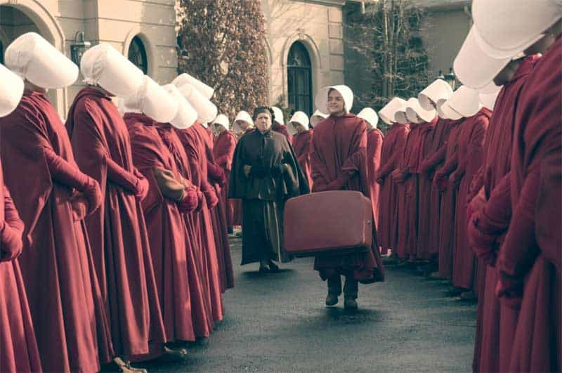 Ann Dowd and Madeline Brewer in The Handmaid's Tale
