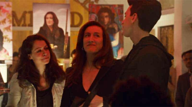 Tatiana Maslany as Sarah, Maria Doyle Kennedy and Jordan Gavaris in Orphan Black