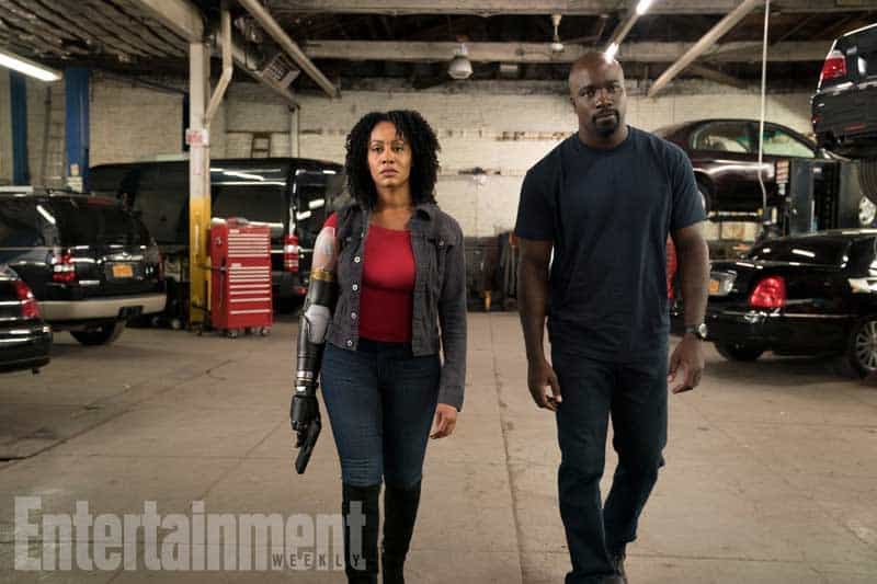 Simone Missick and Mike Colter in Luke Cage