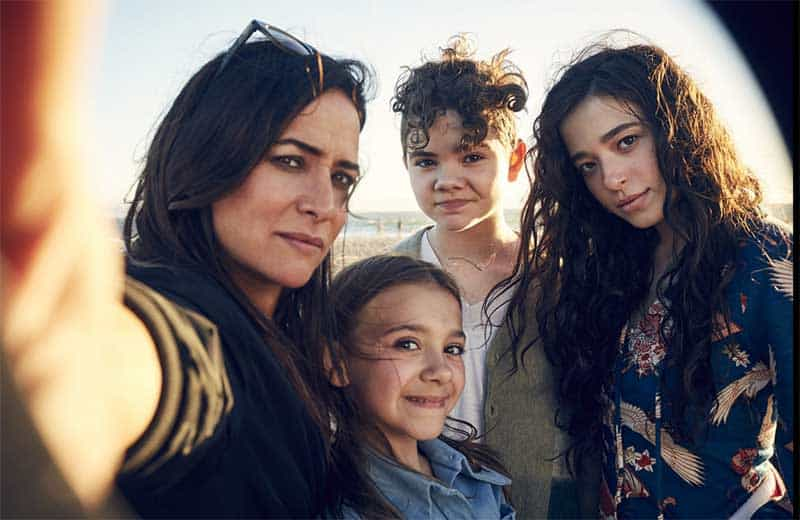Pamela Adlon, Mikey Madison, Hannah Alligood, and Olivia Edward in Better Things