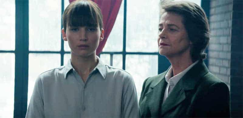 Jennifer Lawrence and Charlotte Rampling in Red Sparrow