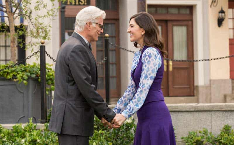 D'Arcy Carden and Ted Danson in The Good Place