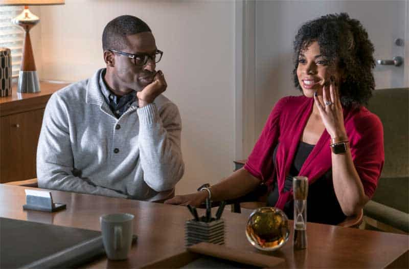 Sterling K. Brown and Susan Kelechi Watson in This is Us